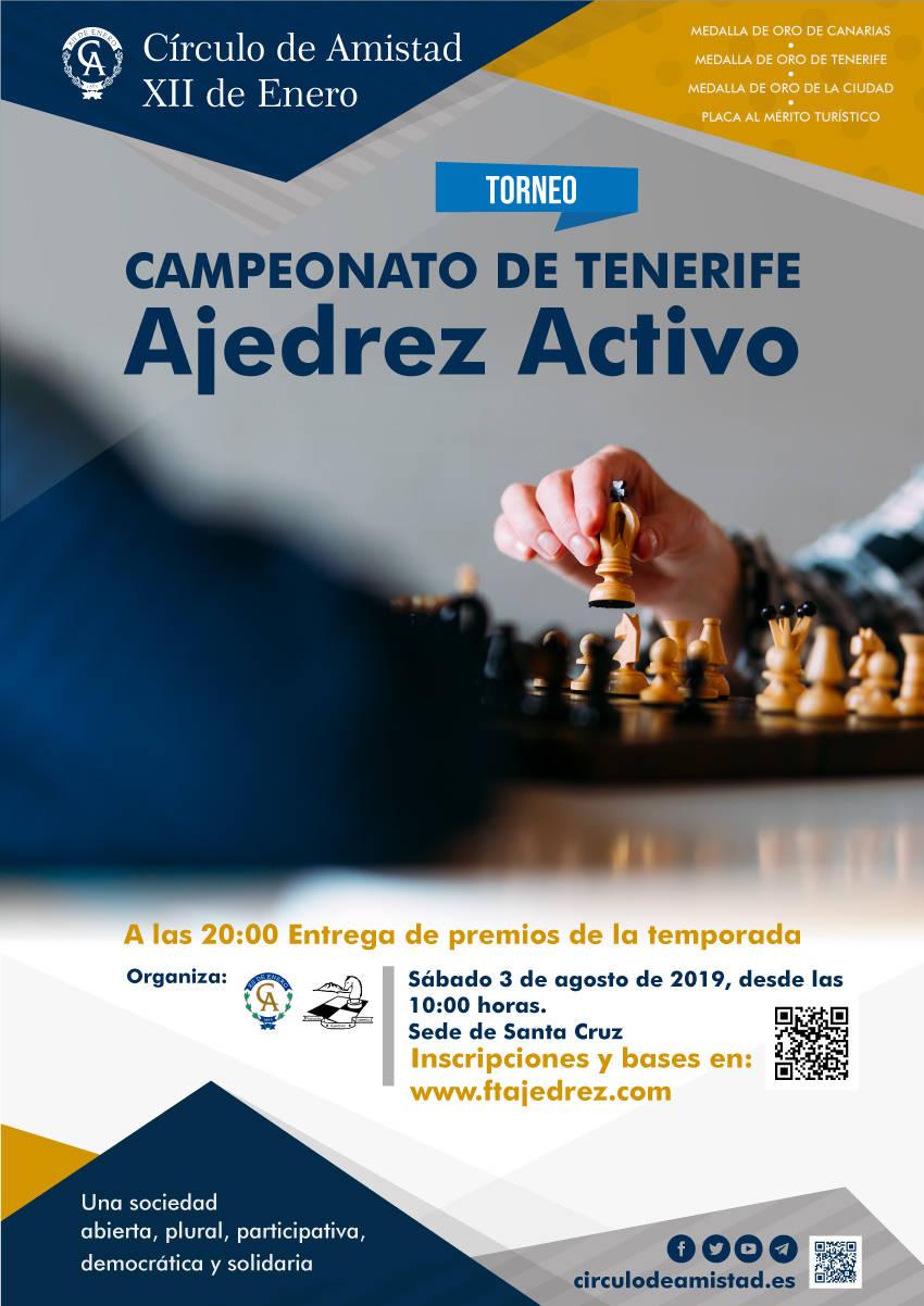 Cartel Campeonato Ajedrez Activo