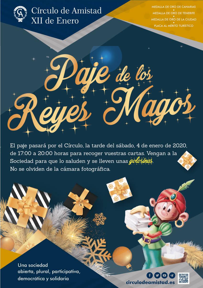 Cartel Visita Paje Reyes Magos