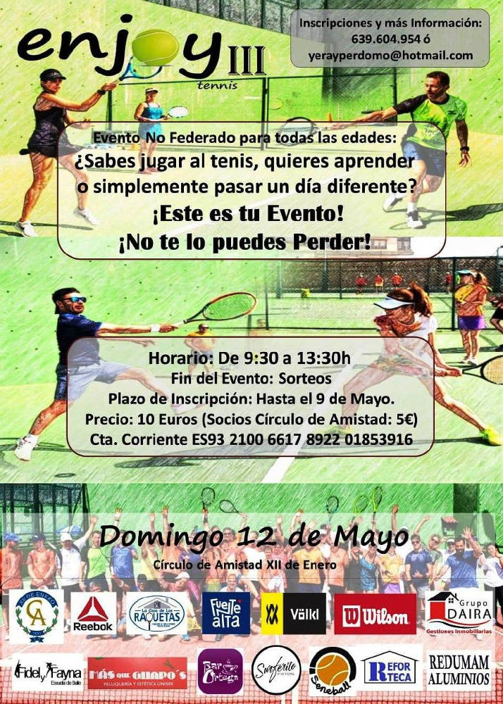 Cartel Evento Tenis