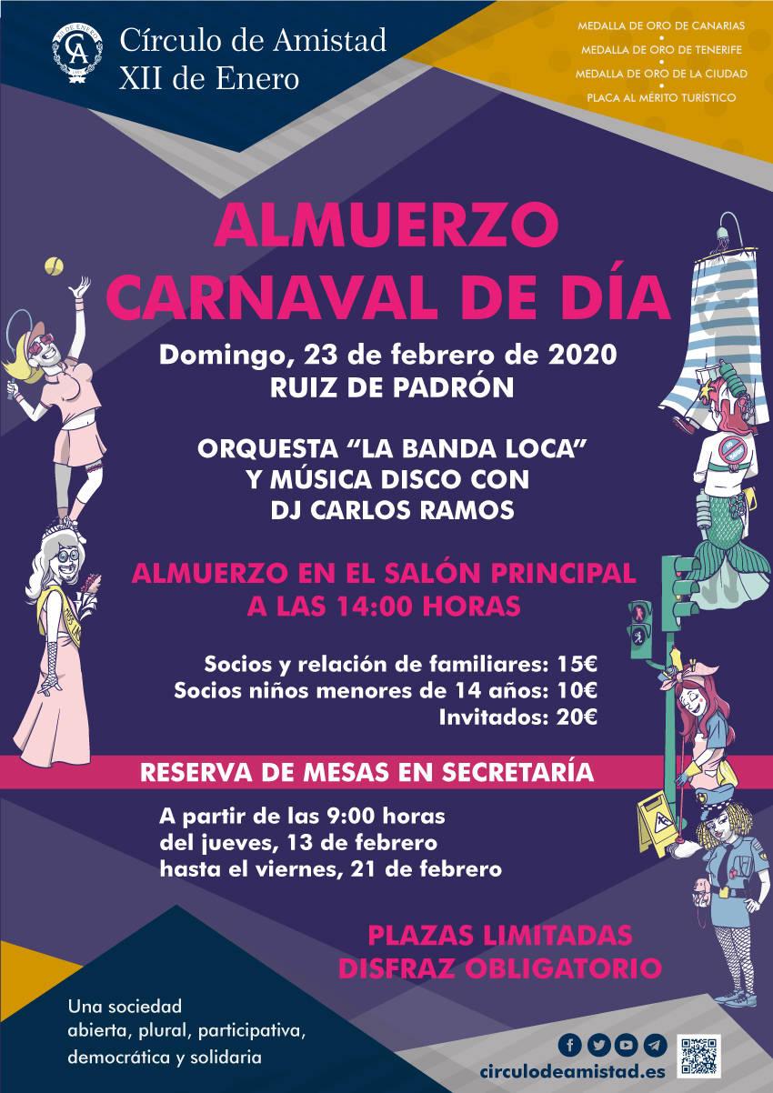 Cartel Almuerzo Carnaval de Día