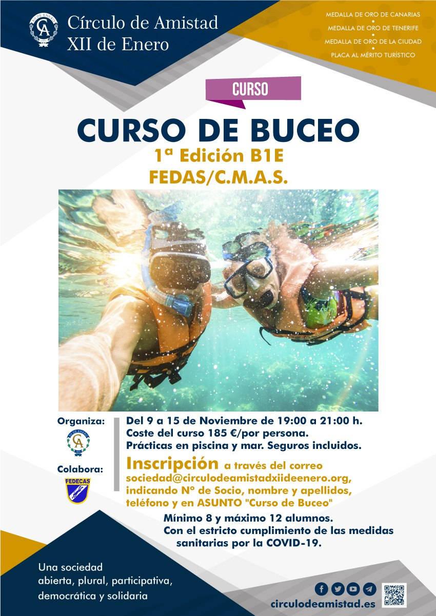 Cartel Curso Buceo