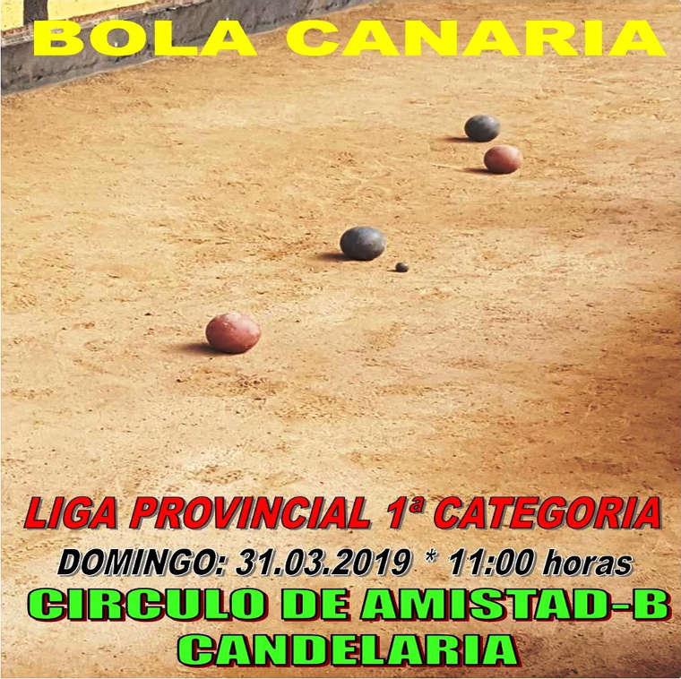 Cartel del partido de Bola Canaria
